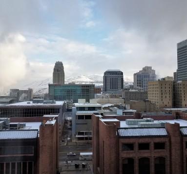 Vista desde el Hotel en Salt Lake City