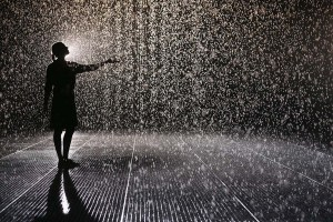 The Rain Room Is Unveiled At The Curve Inside The Barbican Centre